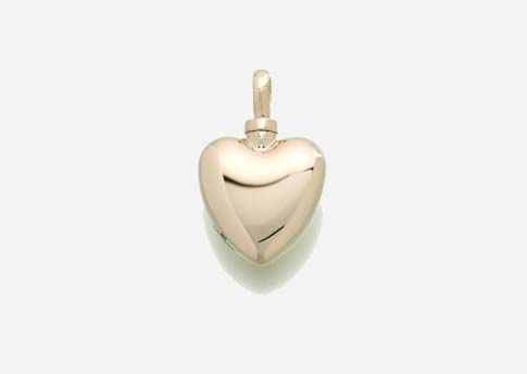 Small Heart Pendant- Gold Vermeil Image