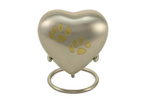 Keepsake Heart- Double Heart Pewter Image