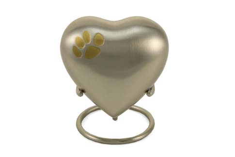 Keepsake Heart- Single Heart Pewter Image