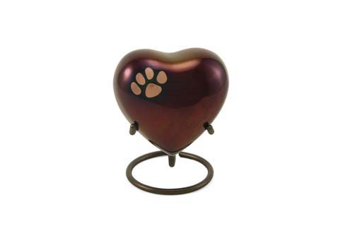 Keepsake Heart- Single Heart Raku Image