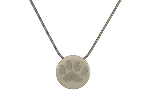 Round with Large Paw- Pewter Image