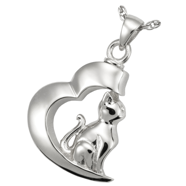 In My Heart Cat Pendant Image